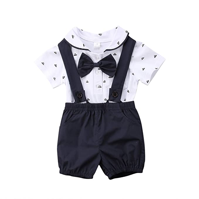 outlet store customers first variety of designs and colors Amazon.com: Summer Newborn Kid Baby Boy Gentleman Outfit ...