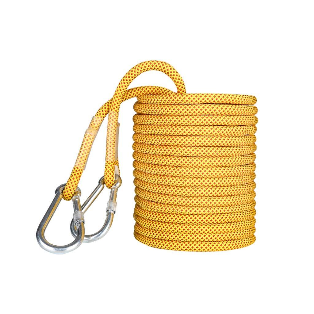 クライミングハーネス 静的張力38KN安全ロープ、直径14mmの耐摩耗性安全ロープ、高強度ポリエステルシルク空中作業ロープ (Color : 14mm - 80m) 14mm - 80m