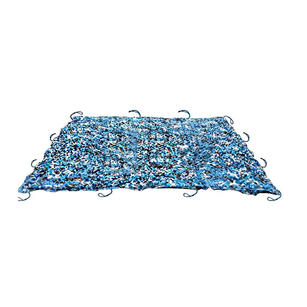 Pare-Soleil,filet d'ombrage,Filet Camo Filet De Camouflage Pour Tir Aveugle Observant Cache Chasse Chasse Décoration Militaire Parasol Filets de prougeection solaire pour camping,couleur bleu océan  10x10m