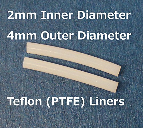 Flashforge 3D Printer Teflon  Ptfe  Liner Tube For Nozzle  2 Pack Of Liners