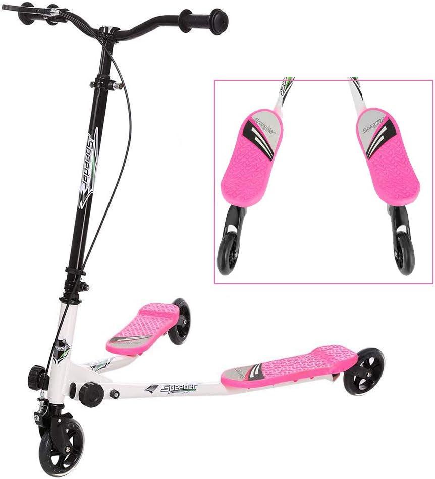 Swing Scooter pour Filles et Gar/çons Plus de 3 Ans Pliable Trottinette Duo Enfant Double Plateforme R/églable en Hauteur Kulzer Trottinettes Enfant 3 Roues