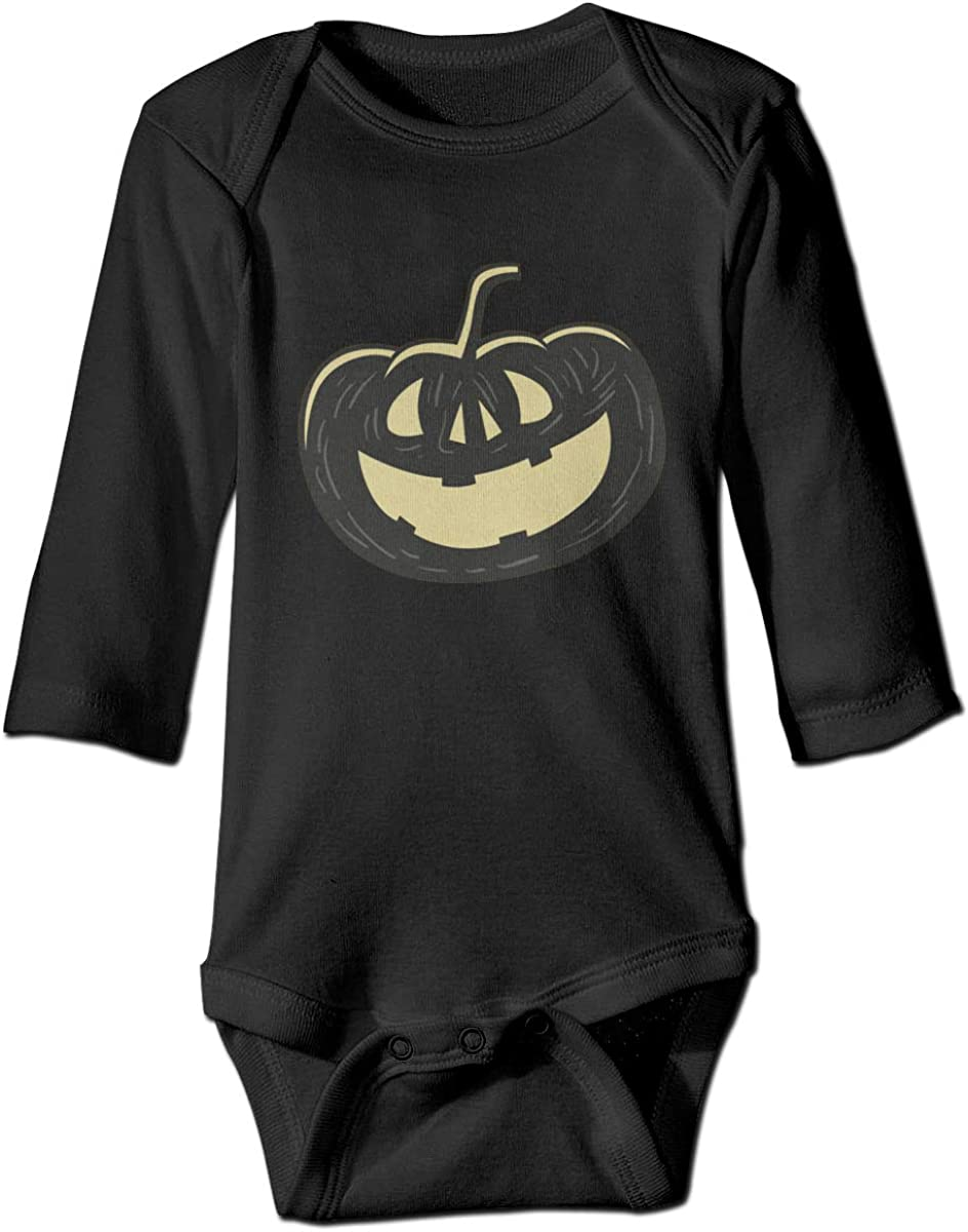 Marsherun Newborn Baby Toddler Halloween Jack-o-Lantern Long Sleeve Bodysuits Playsuits