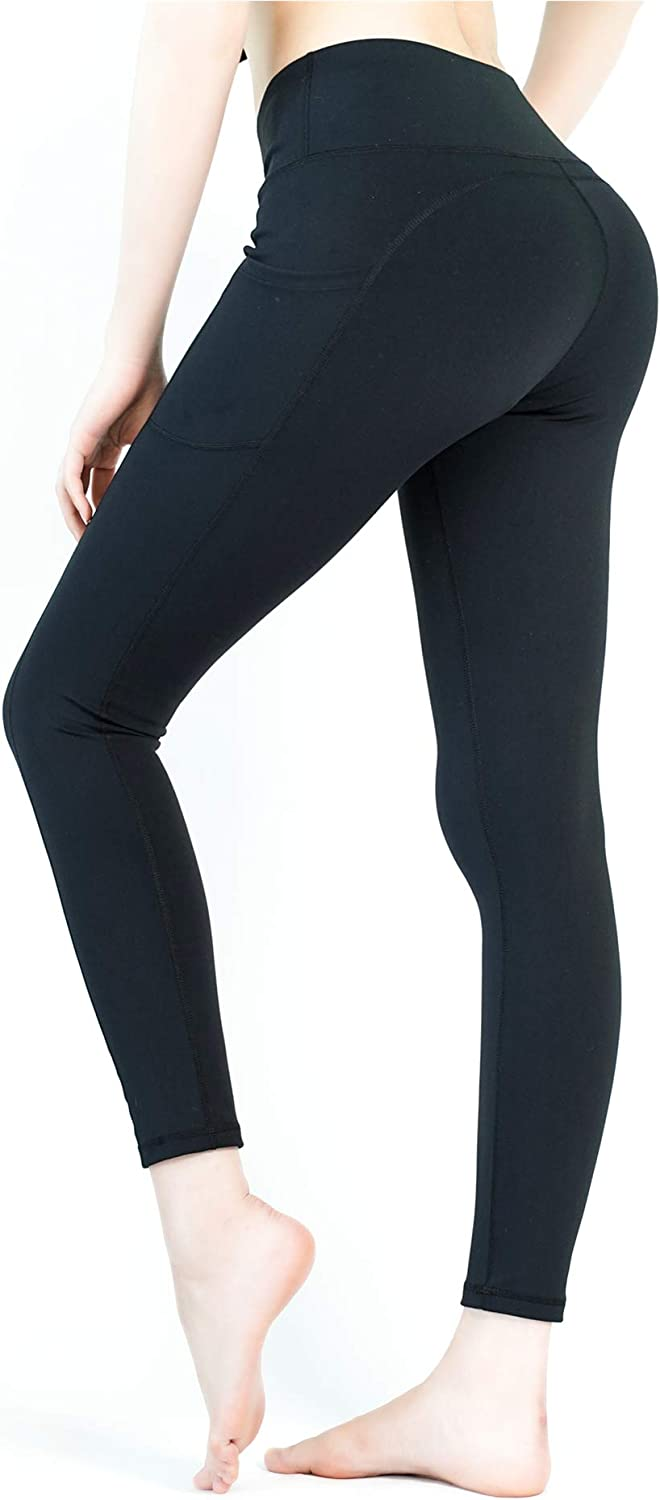 Yveser High Waist Yoga Pants with Pockets Yoga Leggings with Pockets Workout Pants for Women