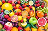 LHDLily 3D Modern Minimalist Style Wallpaper Fruit Store Shopping Malls Supermarket Background Fruits Wallpaper Mural 400cmX300cm