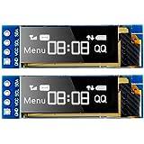 MakerFocus 2pcs I2C OLED Display Module 0.91 Inch I2C SSD1306 OLED Display Module White I2C OLED Screen Driver DC 3.3V…