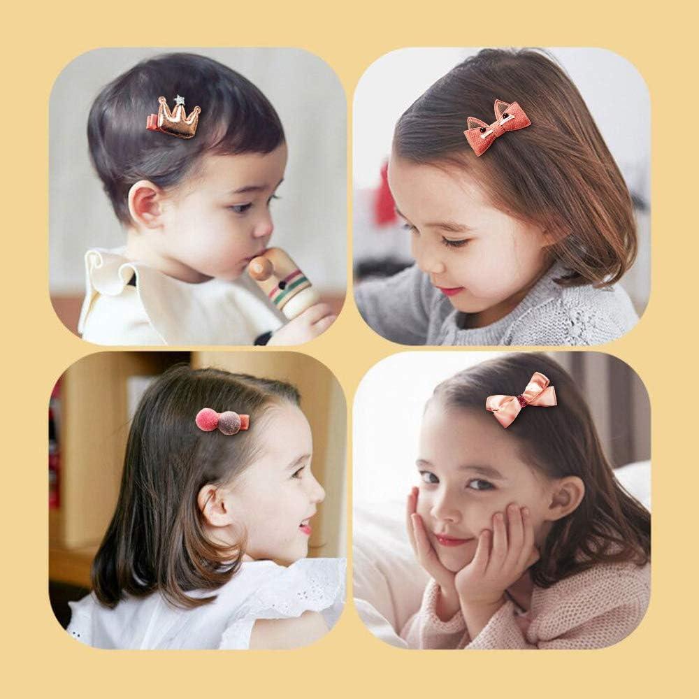 Little Girls Hair Clip,Hairpins Set,Head Ornaments 18 Pack Hair Ring,Baby Girl Gift Baby Girls Hair Clips Cute Hair Bows Baby Elastic Hair Ties Hair Accessories For Girls,Assorted Styles