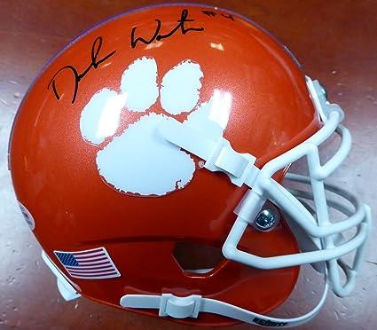 DeShaun Watson Autographed Clemson Tigers Orange National Champs Sticker  Mini Helmet Beckett BAS 9003a96d8