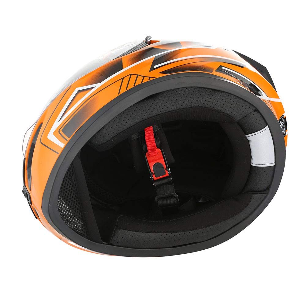 Size X-Large Size XL 1STorm Motorcycle Street Bike Dual Visor//Sun Visor Full Face Helmet Panther Black 59-60 CM,23.2//23.6 Inch