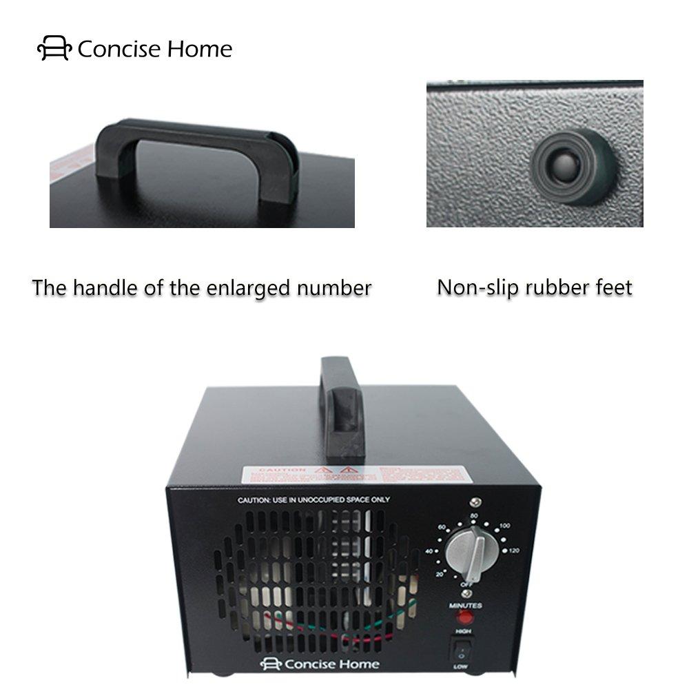 Concise Home Generatore Commerciale di Ozono 7000mg Deodorante Nero Sterilizzatore Industriale O3 per Purificatore daria