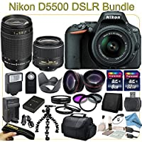 D5500 Advanced Package - Includes 18-55mm VR II & 70-300mm Lenses, Wide Angle & Telephoto Lenses, Filters, Macro Lenses and more. At A Glance Review Image