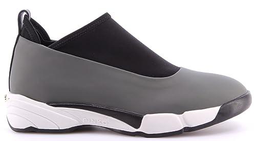 Scarpe Donna Sneakers PINKO 1H208U Magnolia I50 Grey Rubber 2016 Gomma  Grigia 8f94fcedcf6