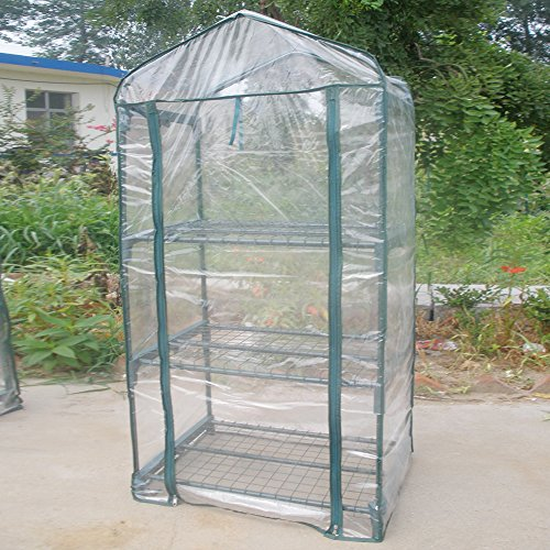 GLOGLOW Greenhouse Tent, Portable PVC Plant Green House Mini Warm Flower Plants Household Clear Waterproof Plant Cover for Outdoor and Indoor Gardening Planting(Without Iron Stand) by GLOGLOW (Image #1)