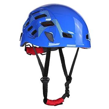 Jipai(TM) Casco Protector Cabeza de Escalada para Adultos Color Azul