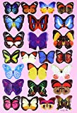 #8: DaGou mixed of 12PCS 3D Pink Butterfly Wall Stickers Decor Art Decorations¡