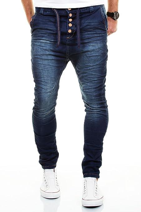 2 opinioni per MERISH Jeans Uomo Pantalone Cavallo Basso Slim Fit Sportivi Denim Modell J3012
