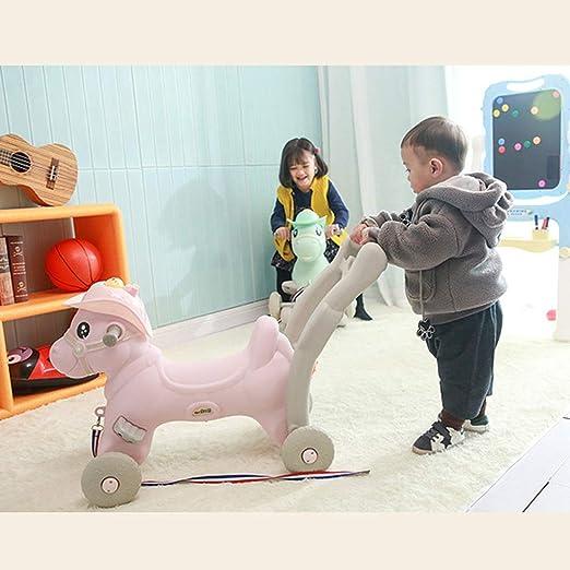 LITING Caballo de balancín para niños. Caballo de Madera con ...