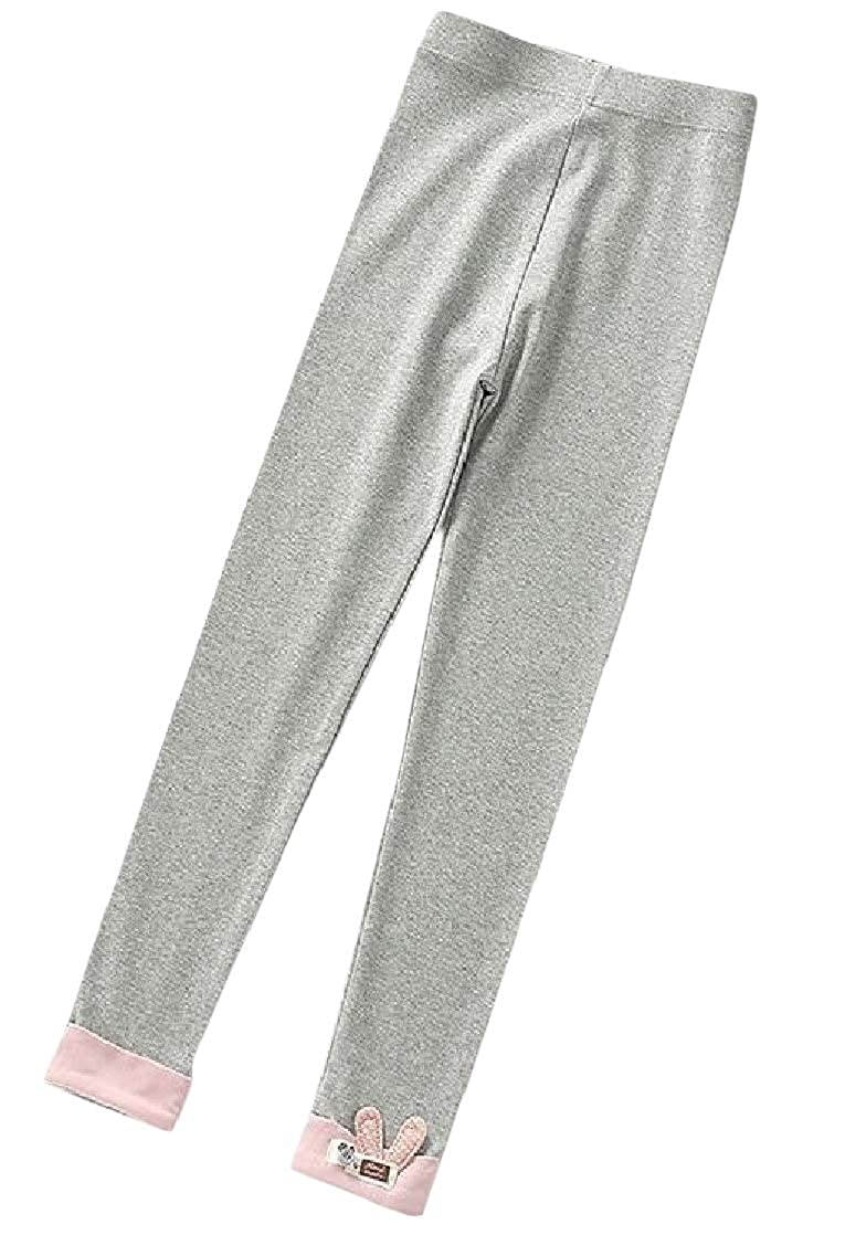 Joe Wenko Girls Thin Cotton Summer Cartoon Stretch Pants Basic Legging