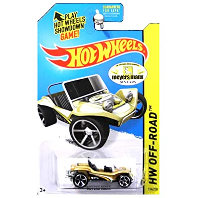 Hot Wheels 2014 HW Off Road Off Track Meyers Manx Gold 50 Years Anniversary: Toys & Games
