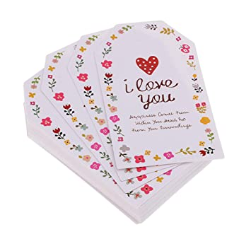 Fityle 50pcs Kraft Dangle Tags Birthday Package Labels Colorful Bookmarks Home Decoration Wedding Decoration Party Adorn Proposal Embellishment Tags happy birthday round shape 5.5x5.5cm