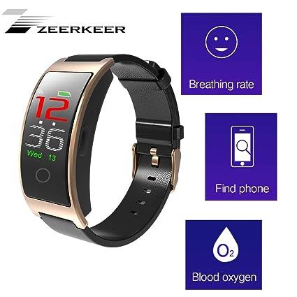 ZEERKEER Smartwatch, Bluetooth 4.0 Smart Watch Pulsera ...