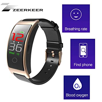 ZEERKEER Smartwatch, Bluetooth 4.0 Smart Watch Pulsera ...