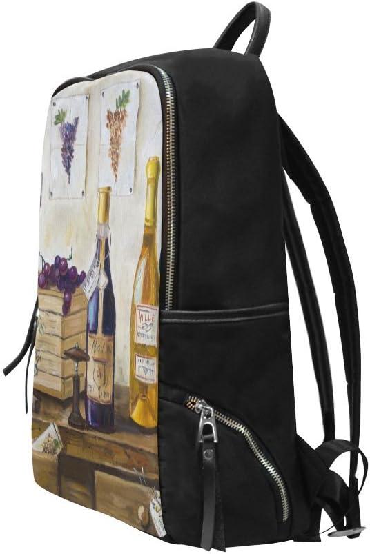 Modern Art Oil Painting Lovers Under Umbrella Bag Backpack Daypack Backpack
