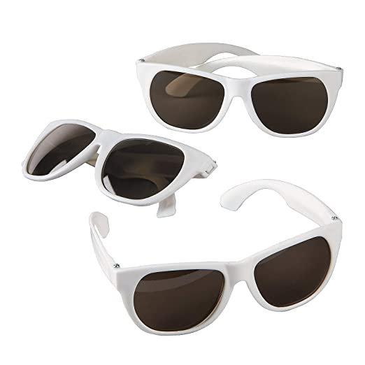 05844435dc Amazon.com  Fun Express - White Nomad Sunglasses - Apparel Accessories -  Eyewear - Sunglasses - 12 Pieces  Clothing