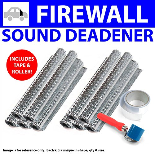73 Firewall (Zirgo ZIR79981 Heat & Sound Deadener Ford Mustang 71 - 73 Firewall Kit + Tape, Roller 10710Cm2)