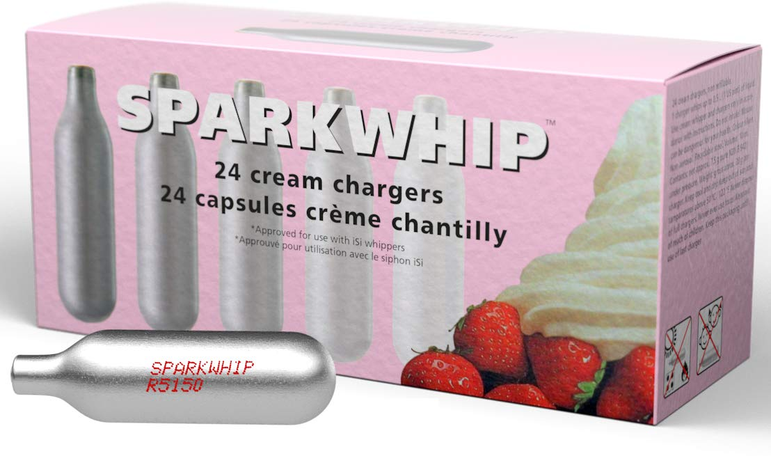 Sparkwhip by iSi Whipped Cream Chargers-96 Pack - 4 Boxes of 24 by iSi North America
