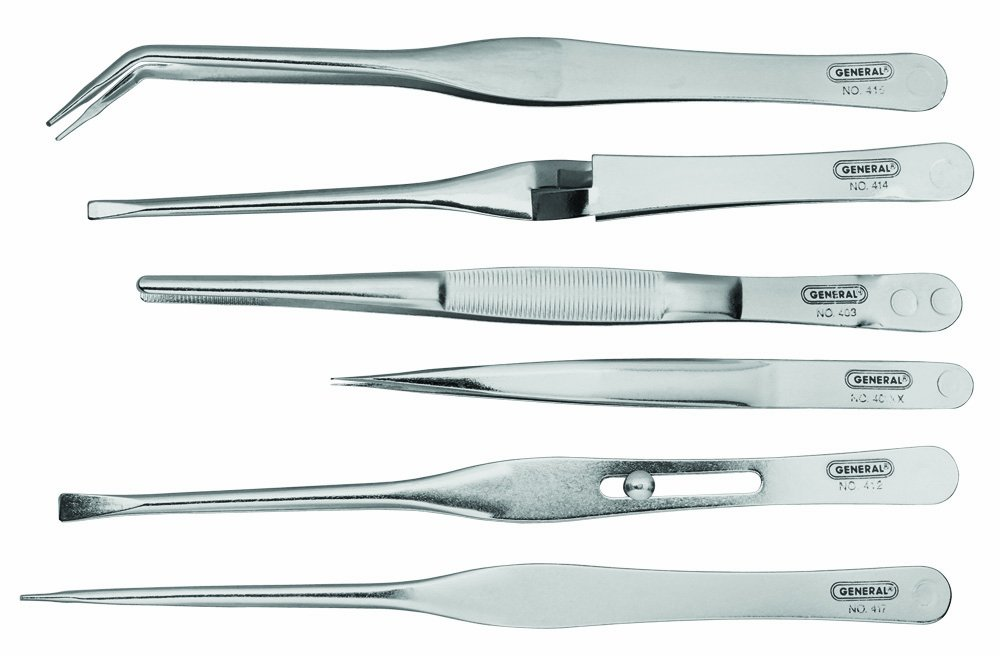 General Tools C421 Tweezer Set, Six-Piece