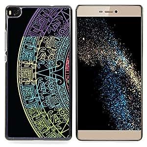 - Star Calendar History Ancient Black/ Duro Snap en el tel????fono celular de la cubierta - Cao - For HUAWEI P8