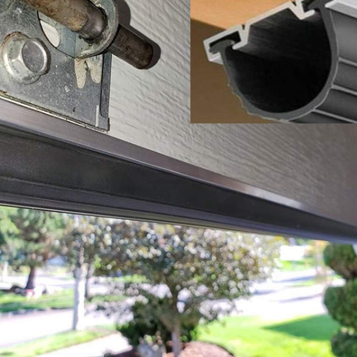 Garage Door Bottom Weather Stripping Kit Rubber Seal Strip Replacement ,5//16 T Ends 20 Feet 3 3//4 Width