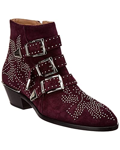 db875aaf91b1d Image Unavailable. Image not available for. Color  Chloe Susanna Studded  Suede Ankle Boot ...