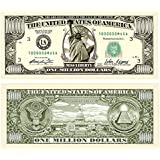 Set of 10 Bills-Traditional Million Dollar Bill by Novelties Wholesale