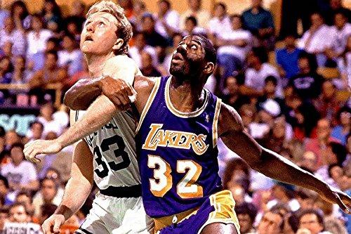 NBA LA Lakers - Magic Johnson & Boston Celtics Larry Bird - Poster