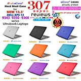 CLEAR iPearl mCover Hard Shell Case for 13.3 Dell XPS 13 9343 / 9350 / 9360 models ( not fitting older L321X / L322X / 9333 and newer 9365 2-in-1 models) Ultrabook laptop - CLEAR