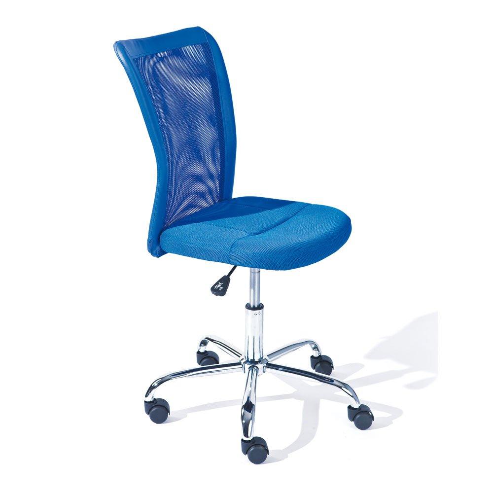 Pharao24 Drehstuhl für Kinderschreibtisch Blau