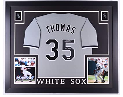 official photos 7d284 dce7a Frank Thomas Autographed Signed White Sox 35x43 Deluxe ...