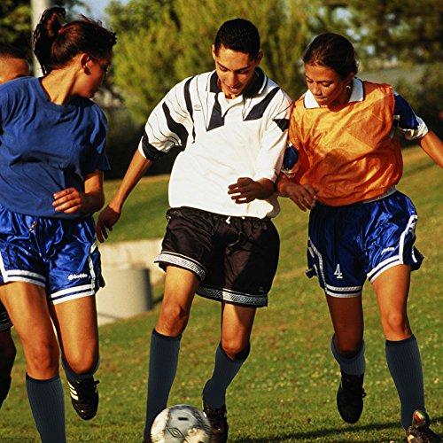Football Socks, Comifun Adults Teens Mid Calf Custom Team Number Athletic Player ID Socks 1 Pair for Baseball Basketball, Black/White