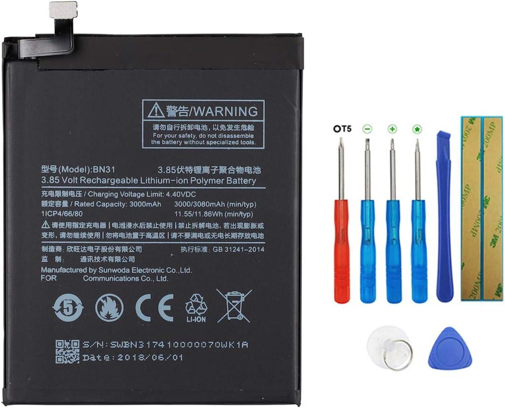 Swark - Batería BN31 compatible con Xiaomi MI 5X MI A1 Note 5A ...
