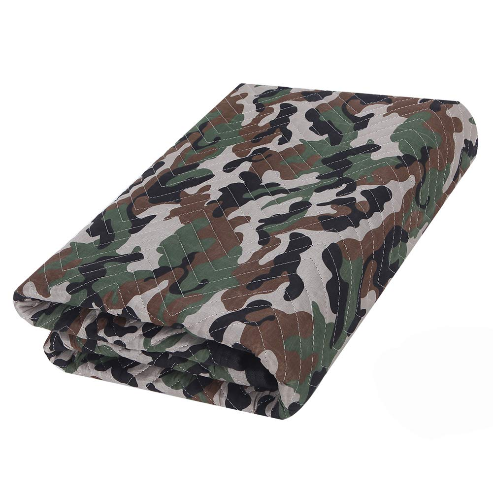 SOMIDE Luxury Camouflage Moving Blankets, Ultra Thick, Double Batting, Colorfast, 72'' x 80'', 5.8 Lbs/pc, Multi-Porpose for Pet Supplies, Sound Barrier, Hunting and Outdoor.