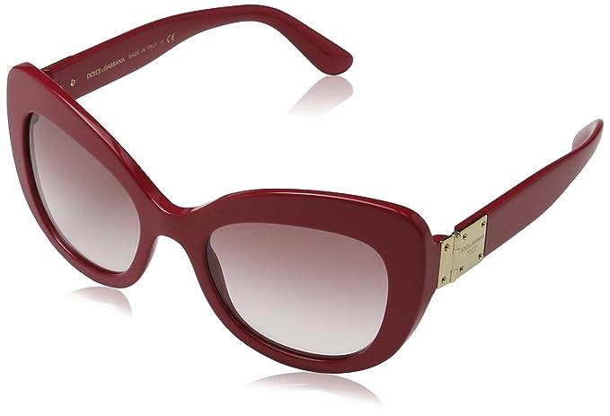 210c2a1734 Dolce & Gabbana 0Dg4308, Gafas de Sol para Mujer, Marrón (Fuxia), 53 ...