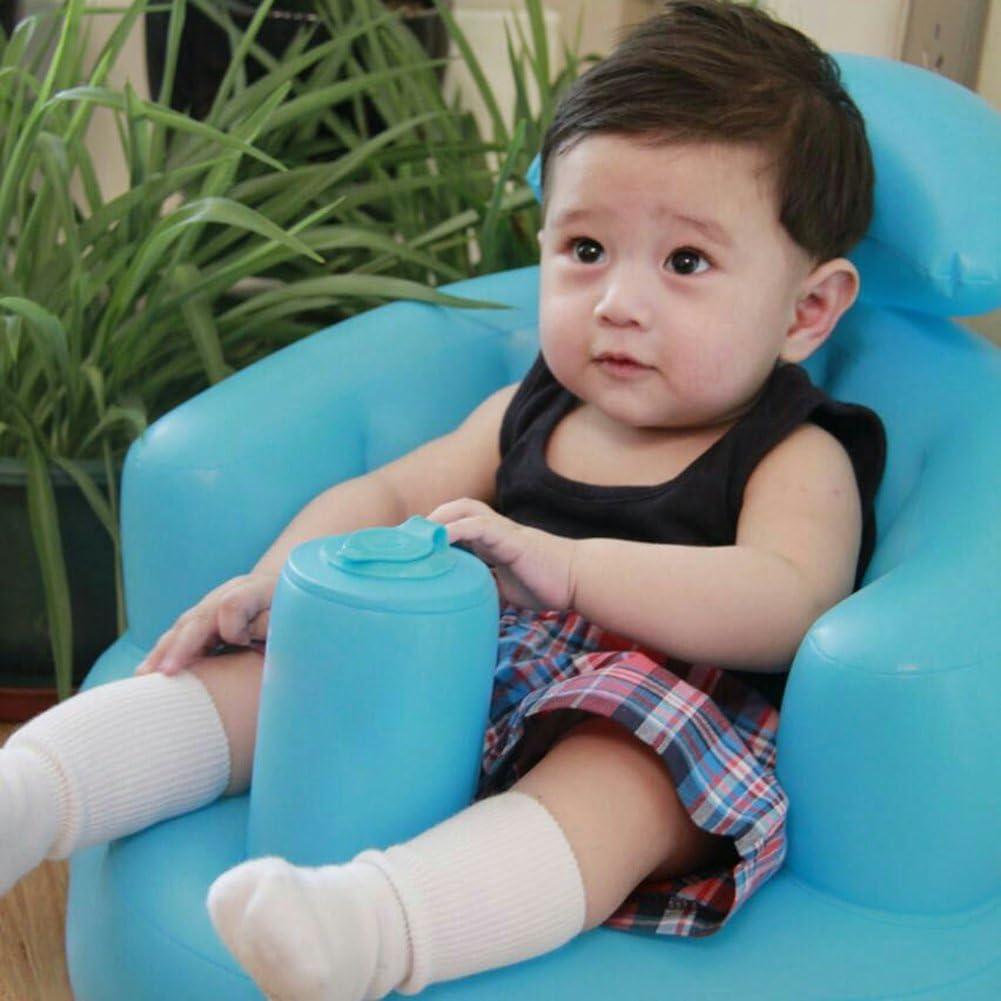 Bebé Seguro Asiento Paso A Aprender a inflar juguetes para recién nacidos y barco de baño infantil de seguridad multifuncional sofá bb cena silla portátil taburete para bebés