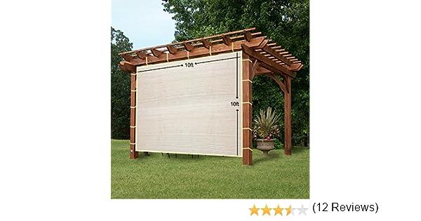 easy2hang Durable Parasol privacidad Panel con cuerda para pérgola, Side lámpara de pared para Instant toldo o Gazebo, tela, Wheat, 10x10: Amazon.es: Hogar