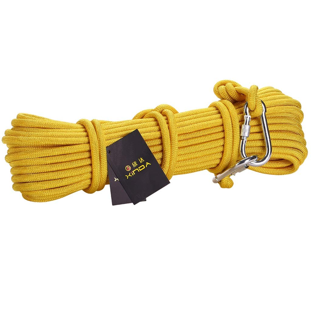 QARYYQ Corde d'urgence en Corde d'escalade 8   10mmé degré 10 15 20 30 40 50 60 70 80 90   100m Cordes (Taille   10MM 30M) 10MM 50M