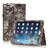 TNP iPad Mini Case (Tiger Brown) - Slim Fit Synthetic Leather Folio Case Stand with Smart Cover Auto Sleep & Wake Feature and Stylus Holder for Apple iPad Mini 3 & iPad Mini 2
