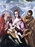 El Greco Holy Family with St Anne - 24'' x 32'' 100% Hand Painted Oil Painting Reproduction