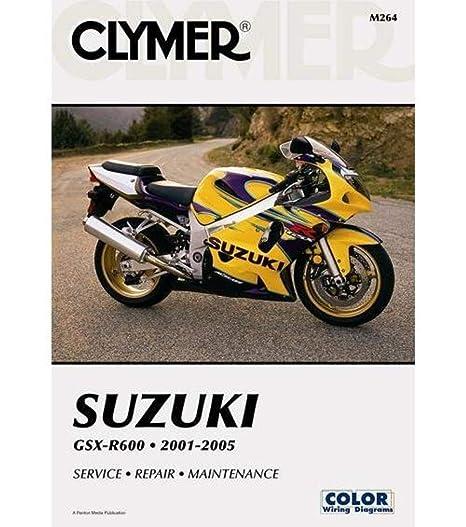 amazon com: clymer repair manual for suzuki gsx-r600 gsxr-600 01-05:  automotive