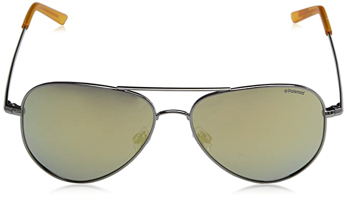 Polaroid Unisex-Erwachsene Sonnenbrille Pld 6012/N LM 6LB, Grau (Ruthenium/Grey Goldmir Pz), 56