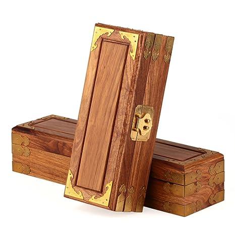 Palo caoba madera joyero antiguos Alhajeros de madera sólida caja de almacenamiento caja de joyería de